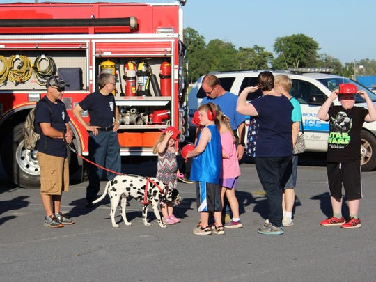 Annie the Dalmatian enjoyed all the attention she received during National Night Out.