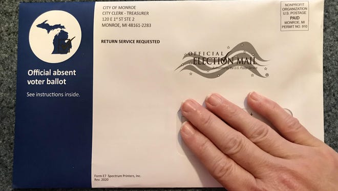 A ballot packet for the Aug. 4 election, received in the mail by a City of Monroe resident.