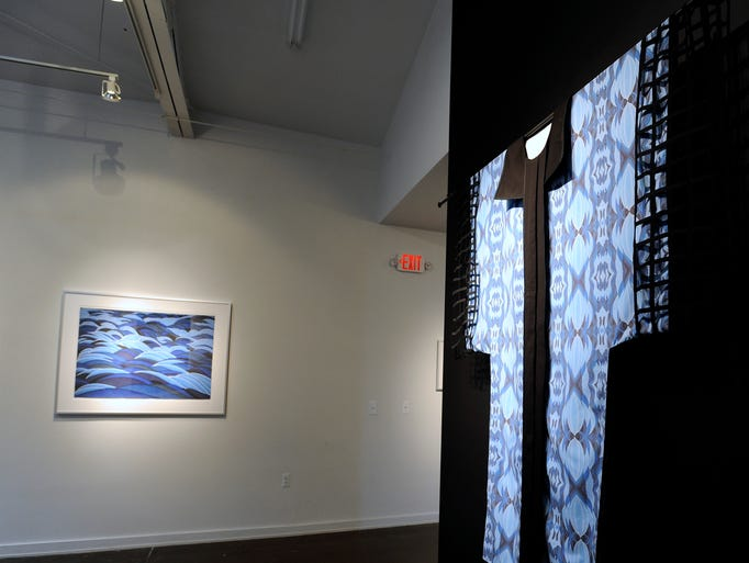 """This is the """"Wall Divider Kimono"""" with the image on"""