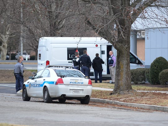 Salisbury Police investigate an armored truck robbery that  happened in the 1100 block of Mt. Hermon Road on Monday, Jan. 22, 2018.