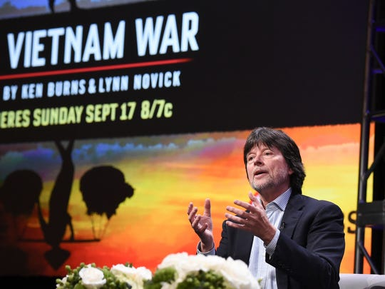 """Ken Burns participates in the """"The Vietnam War"""" panel during the PBS portion of the 2017 Summer TCA's at the Beverly Hilton Hotel on Sunday, July 30, 2017, in Beverly Hills, Calif. (Photo by Richard Shotwell/Invision/AP)"""
