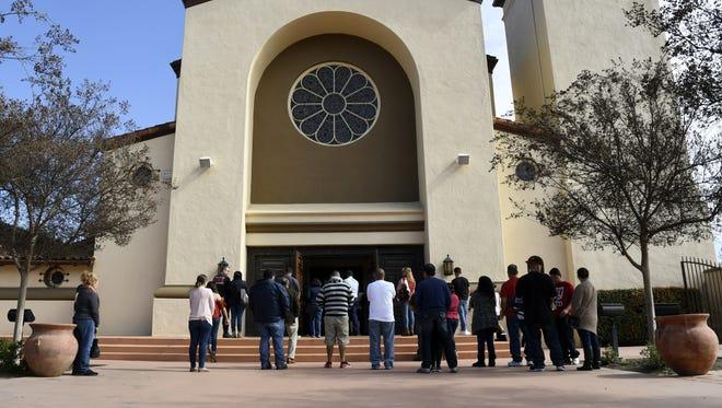 Christmas Mass service will be held Visalia's St. Mary's Catholic Church.