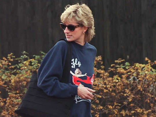 Britain's Princess of Wales departs her London health club Nov. 20, 1995, before her controversial TV interview where she divulged her life with Prince Charles after their marriage.