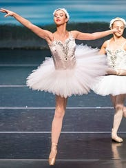 """Alli Henry (center) dancing the """"Four Swans"""" in """"Swan"""