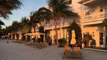 After hours on the road through the series of  strip mall that is the Florida keys, sunset is welcome. The rooms of Parrot Key Hotel and Resort glow.