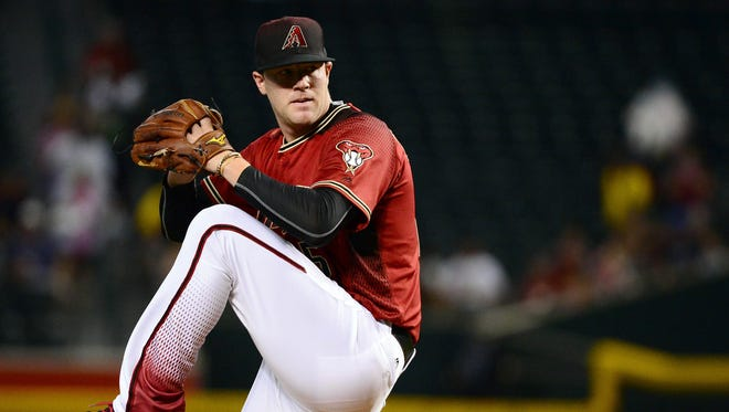 May 29, 2016: Arizona Diamondbacks starting pitcher Archie Bradley (25) delivers a pitch in the first inning against the San Diego Padres at Chase Field.