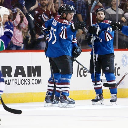 Oct 24, 2014; Denver, CO, USA; Colorado Avalanche left