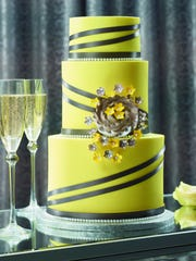 A wedding cake from Bashas' bakery.