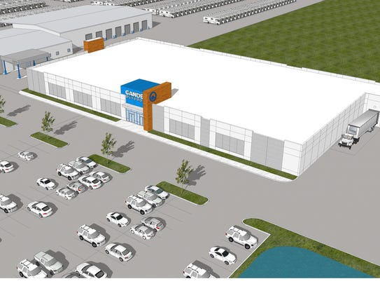 Artist rendering of the Camping World retail store