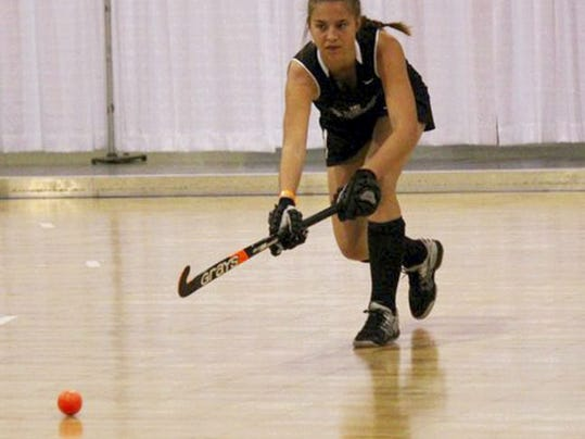 "New Oxford sophomore Kaelyn Long started playing field hockey in the sixth grade. ""Ever since I got that hockey stick in my hand, I knew what I wanted to do,"" Long said. Submitted"