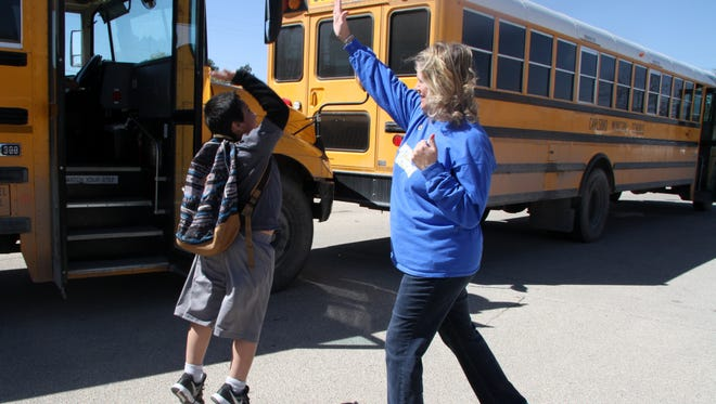 Sandra Nunley will be on bus duty for the last time on May 26.