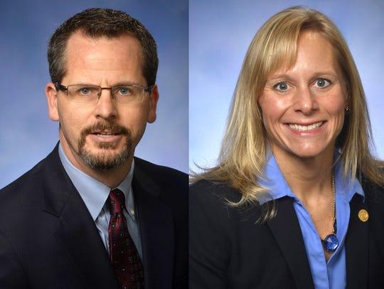 Michigan Rep. Todd Courser, R-Lapeer and Cindy Gamrat,