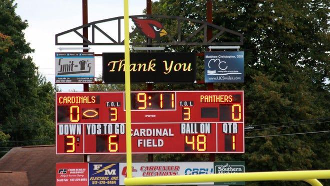 prep football scoreboard