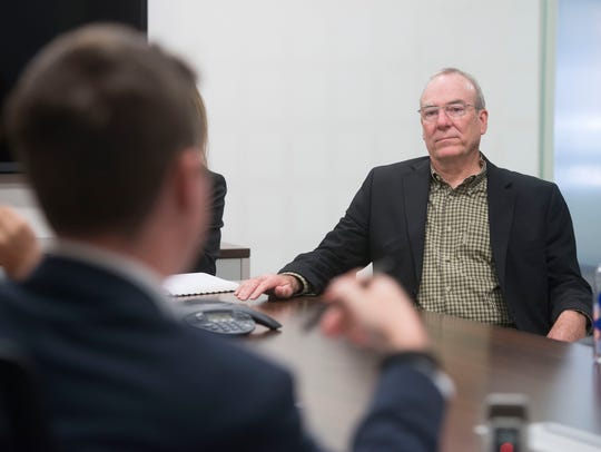 Keith Wilkins meets with the Pensacola News Journal Editorial Board on Feb. 10, 2016.