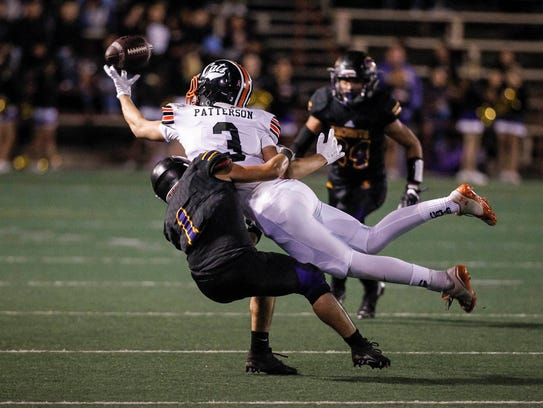 Salinas' Sunnie Arreola breaks up a pass intended for