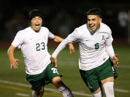 The Alisal Trojans' Player of the Year Angel Amezcua (6) is known for his calmness on the field. Laird Small's teachings helps athletes by managing their emotional landscape to stay mentally calm in tough, pressure-packed situations.