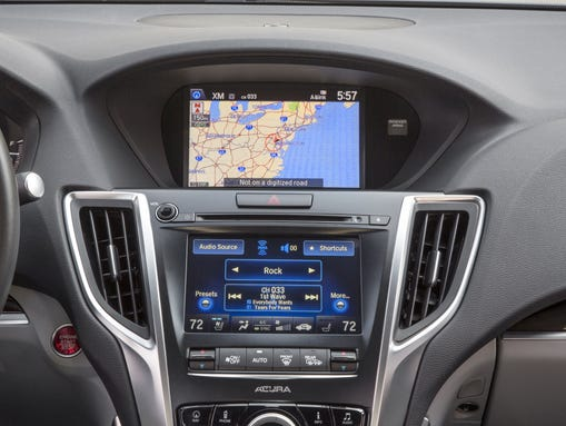 The main flaw in the 2015 Acura TLX is the dual-screen
