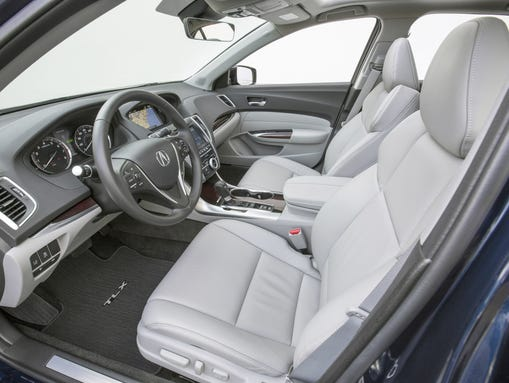 The 2015 Acura TLX interior features heated leather