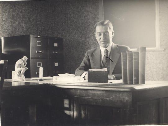 Dr. Paul H. Bowman, president of Bridgewater College (1919-1946).