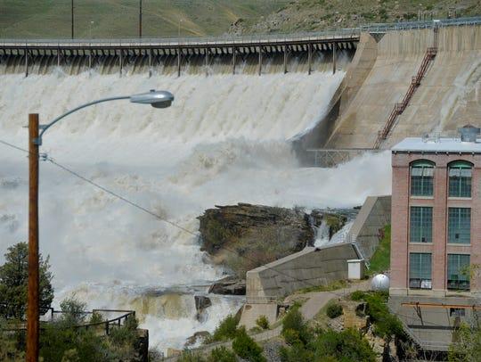 Ryan Dam at the Great Falls of the Missouri northeast