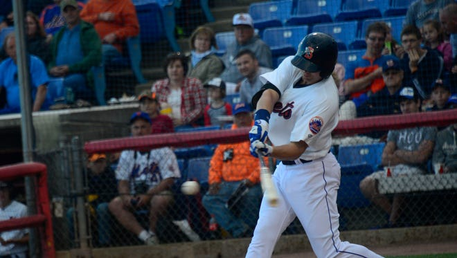 Brandon Nimmo batted .278 with .394 on-base percentage and a .426 slugging percentage. He his 10 home runs and drove in 51 RBIs in 127 games in 2014 between Single-A and Double-A.