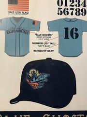 The Corpus Christi Hooks will change their name to the Blue Ghosts for a weekend in June. Jerseys, shirts and hats are available for pre-order on the Hooks website.