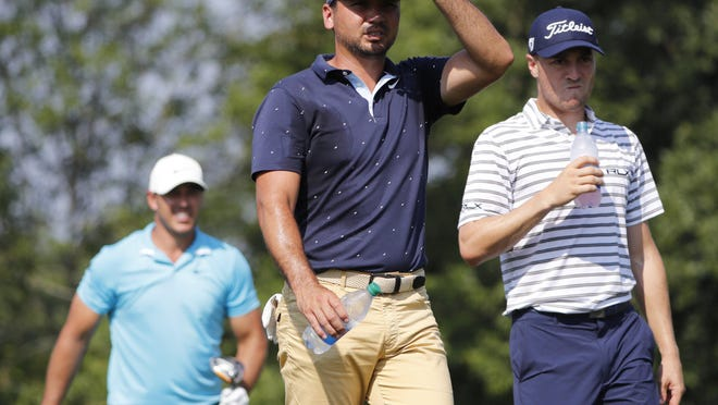 The threesome of Justin Thomas, Jason Day and Brooks Koepka is one of the featured groups on Friday at the Workday Charity Open at Muirfield Village Golf Club.