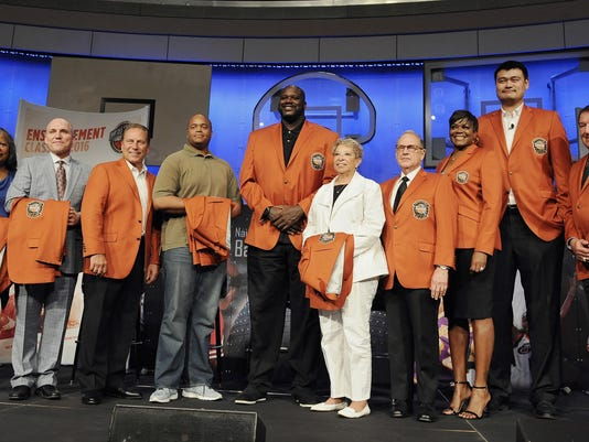 Ann Beaty,Ron Garretson,Tom Izzo,Maurice Banks,Shaquille O'Neal,Nancy Boxill,Jerry Reinsdorf,Sheryl Swoopes,Yao Ming,Jerry Colangelo