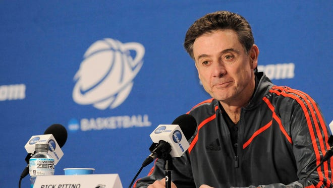"""""""I haven't even though about it,"""" Louisville coach Rick Pitino said when asked if his players were employees. """"It's the first time, with Northwestern, that I even thought about it."""""""