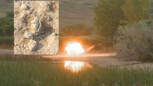 World War II-era bomb detonated near Colo. lake.