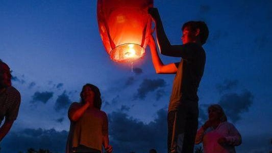 Sterling Heights has banned sky lanterns.