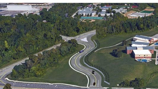 Rendering of the Duck Creek Connector in Madisonville near Red Bank Expressway.