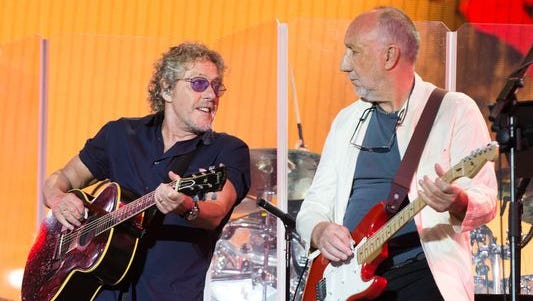 The Who's Roger Daltrey and Pete Townshend will play Joe Louis on Saturday.