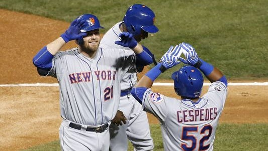The New York Mets defeated the Chicago Cubs, 8-3, in Game 4 of the National League Championship Series, advancing to the World Series.