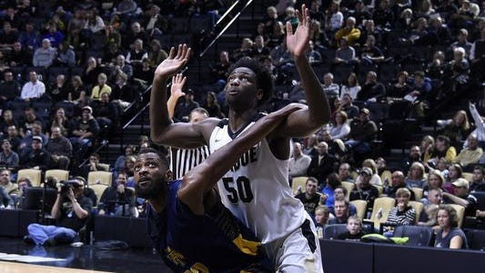 Purdue's Caleb Swanigan was named Big Ten Freshman of the Week.