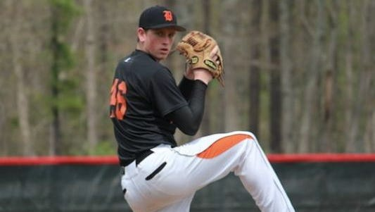 Barnegat's Jason Groome pitching for the Bengals as a sophomore in 2014.
