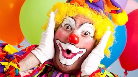 The Arizona peace walk invites people to wear full clown makeup or a mask.