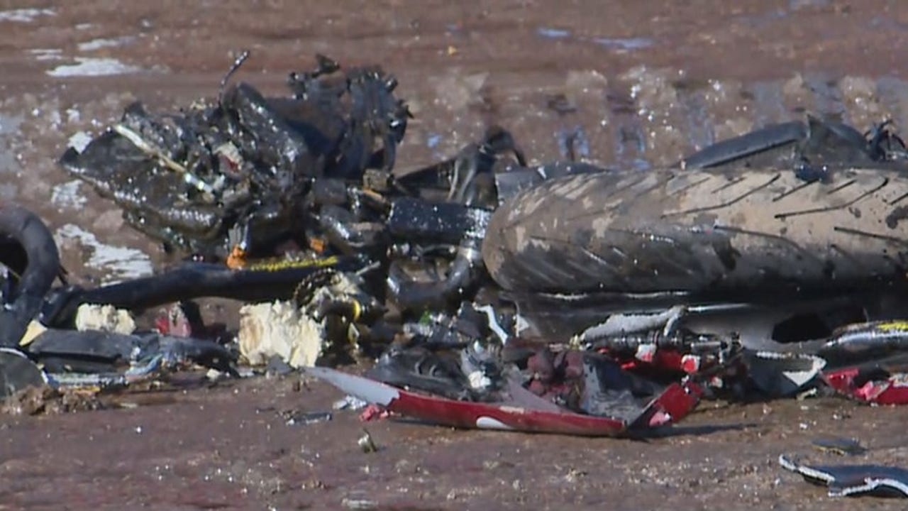 WATCH: Motorcycle destroyed in 30 seconds