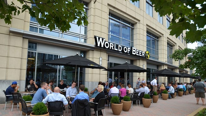The outdoor patio at a World of Beer tavern.