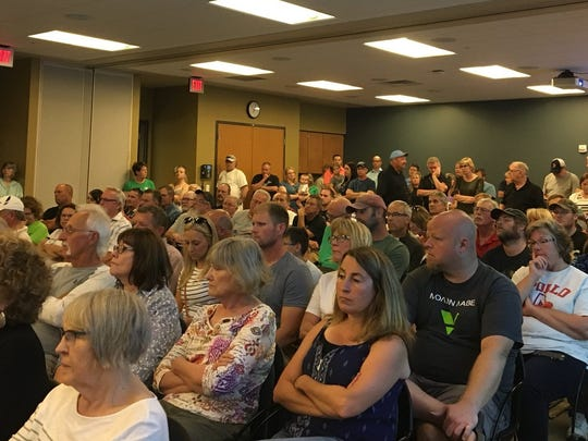Over 120 people turned out to the Stearns County Planning Commission meeting Wednesday to argue their case for or against the proposed trap shooting range.