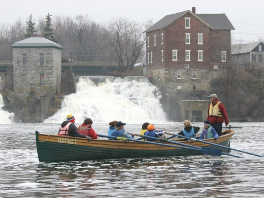 NOW: Vergennes Falls Basin is the starting point for