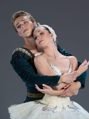 "Brian Leonard and Jillian Barrell starred in Ballet Arizona's 2014 production of ""Swan Lake."""