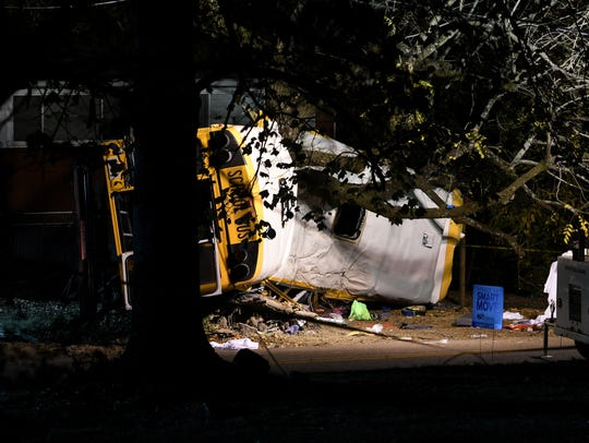 A school bus crashed into a tree in Chattanooga on