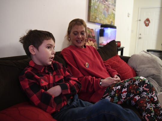 Joe Maldonado, 8, and his mother, Kristie Maldonado, of Secaucus, talking last fall about Joe's being kicked out of the Cub Scouts because he was born a girl.