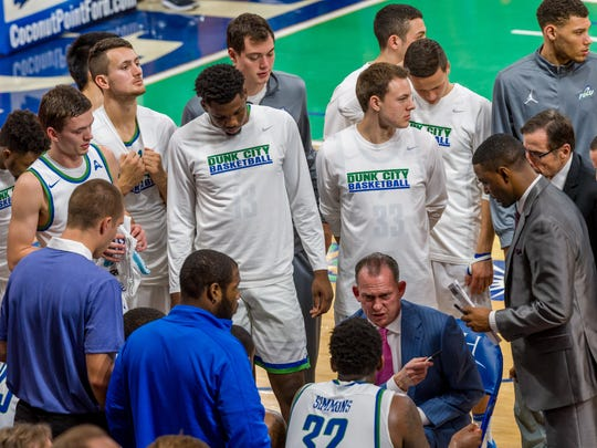 FGCU coach Joe Dooley wants to see much more energy from his Eagles at home against NJIT on Saturday night than they displayed in their stunning 62-60 loss to USC Upstate in Alico Arena on Thursday night.