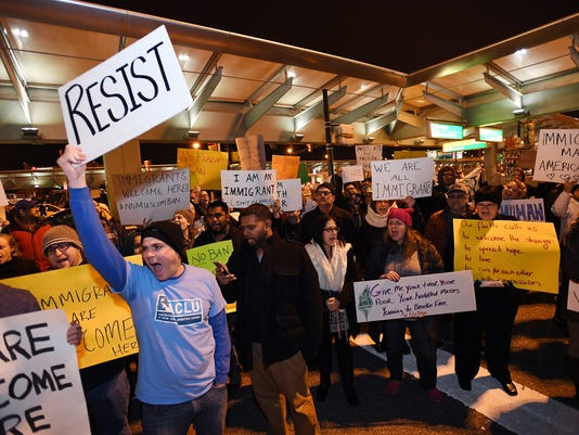 Newark Airport protest