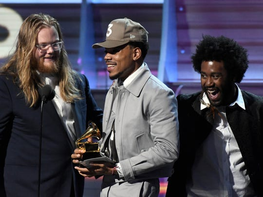 Chance The Rapper accepts best rap album during the