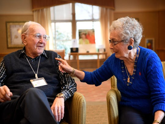 Jules and Anita Lasner reminisce at their home at Cedar Crest in Pequannock.