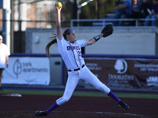 Former Fort Defiance standout Megan Good is the all-time strikeout leader in JMU softball history.