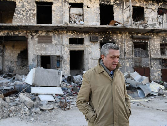 Syria. UN Refugees Chief witnesses signs of life returning to Aleppo
